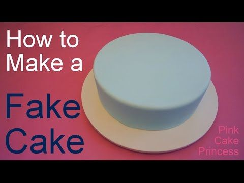How to Make a Fake Cake or Dummy Cake / Covering a Styrofoam Dummy Cake…