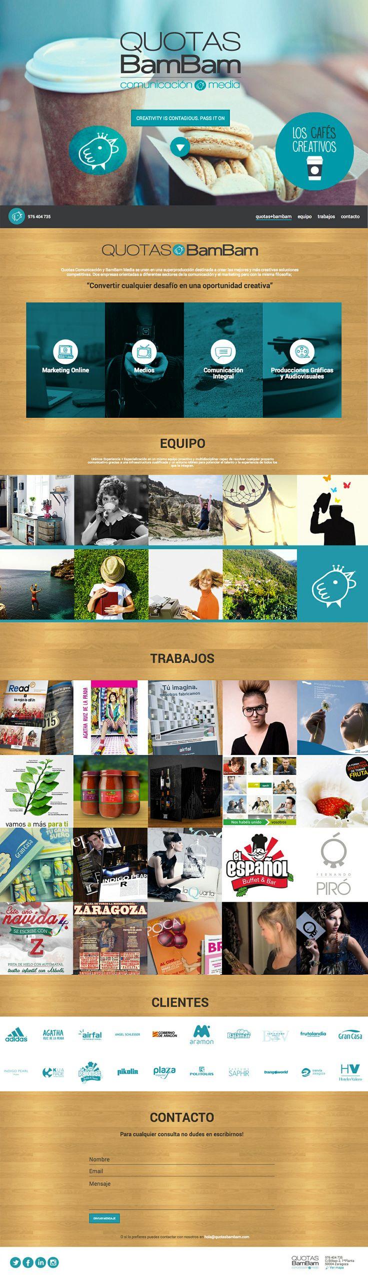 Quotas Bambam web design, and marketing communications agency. www.quotasbambam.com