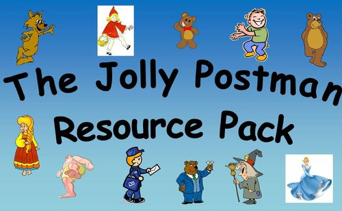 The Jolly Postman Resource Pack for KS1. This resource pack has an excellent range templates for letters, postcards, stamps and large images of characters to create stick-puppets.