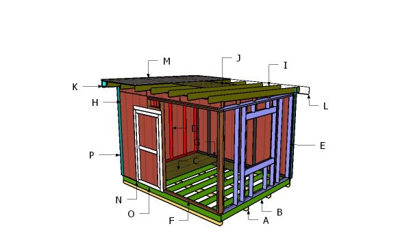 10 12 Shed With Flat Roof Plans Flat Roof Shed 10x12 Shed Plans Shed Plans