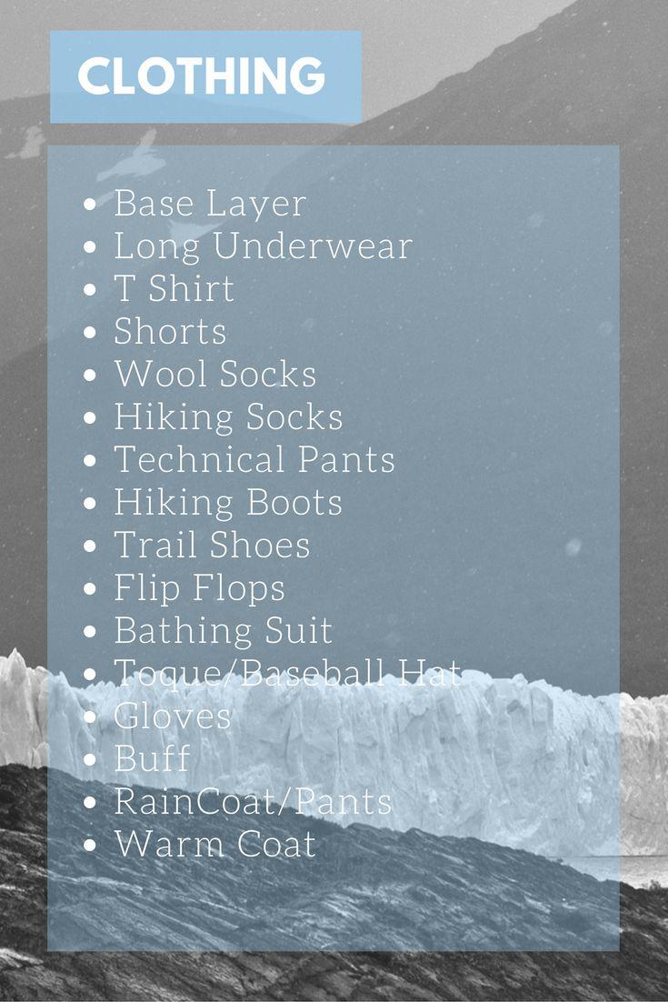 Patagonia Clothing Packing List