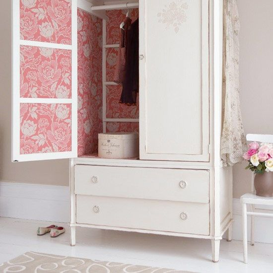 floral carpet for the dresser or armoire closet - DIY