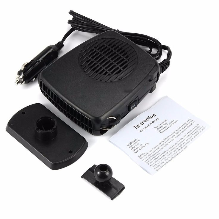 Portable Car HeaterDefroster Demister 2 in 1 Sales Online black - Tomtop