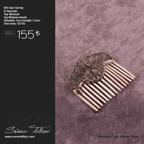 Markazit Taşlı Gümüş Tarak  http://www.sumertelkari.com/MARKAZIT-TASLI-TASARIM-TARAK-GUMUS-SAC-TOKASI-05,PR-21737.html  #tarak #gumustarak #markazit #markazittaşlıtarak #elyapimi #handmade #elyapimitarak #hediye #gift