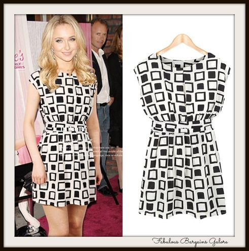 Ladies Geometric Chiffon Tunic Dress - FabulousBargainsGalore | Affordable Children Clothes #womens #celebrity #dress