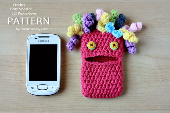 New Pattern – Crochet Hairy Monster Cell Phone Cover