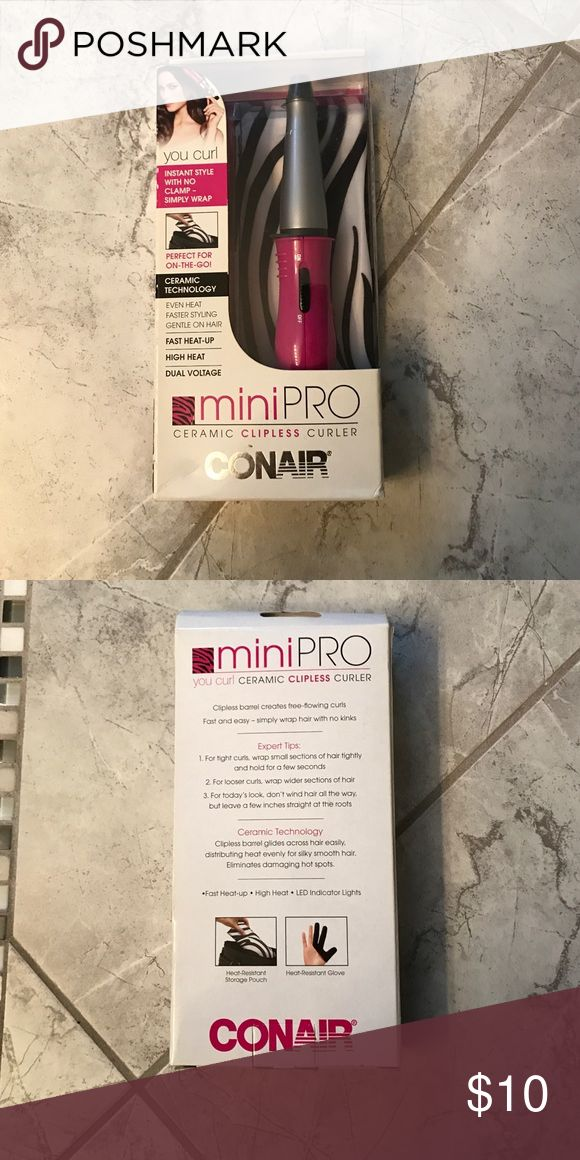Mini Pro® You Curl® Ceramic Clipless Curler Received as gift, but never used - Comes from smoke free home! Fast heat up - Perfect for on the go! CONAIR Accessories Hair Accessories