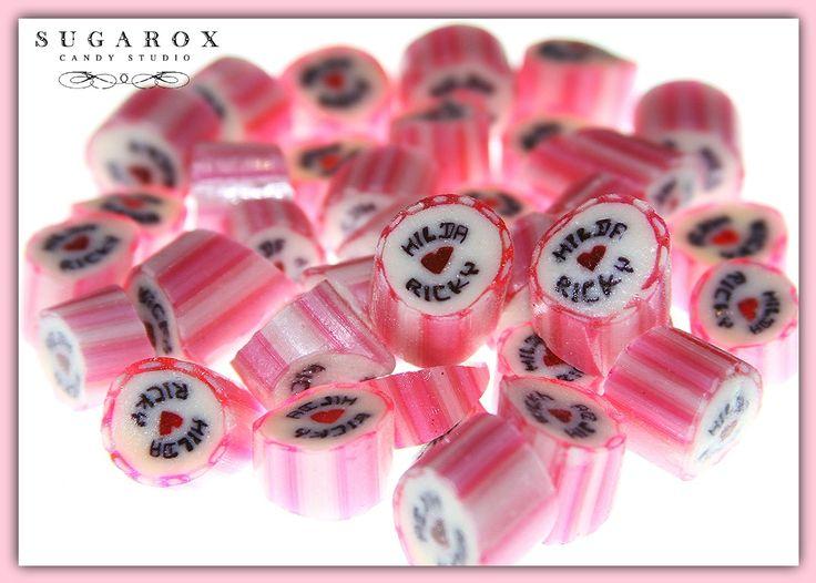 Caramelo con letras, excelente recuerdo de Boda!!!