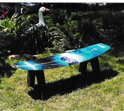 Wake Board Table/Seat What to do with those old wake boards here you go. They also do water ski benchs