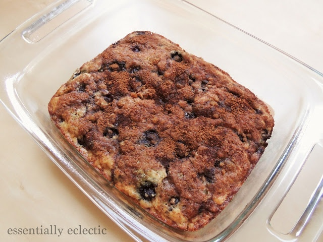 Blueberry-Almond Coffee Cake | Essentially Eclectic
