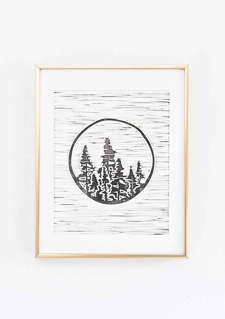 Set Forth Studio – Forest Linocut Print, $45 // This art print (part of our nature series) will look gorgeous on your wall, and makes a great gift. Buy it now in the shop!