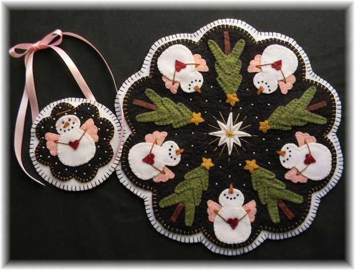 Candle Mat And Coaster Pattern For Christmas O Holy Night Plp Penny Rug
