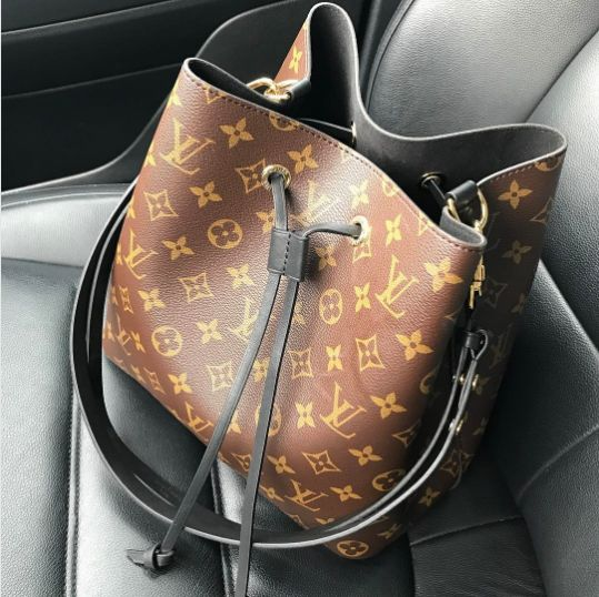 Louis Vuitton Noir Monogram Canvas Neonoe Bag 2