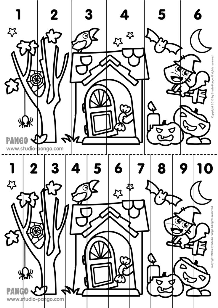 Halloween Printable number sequence