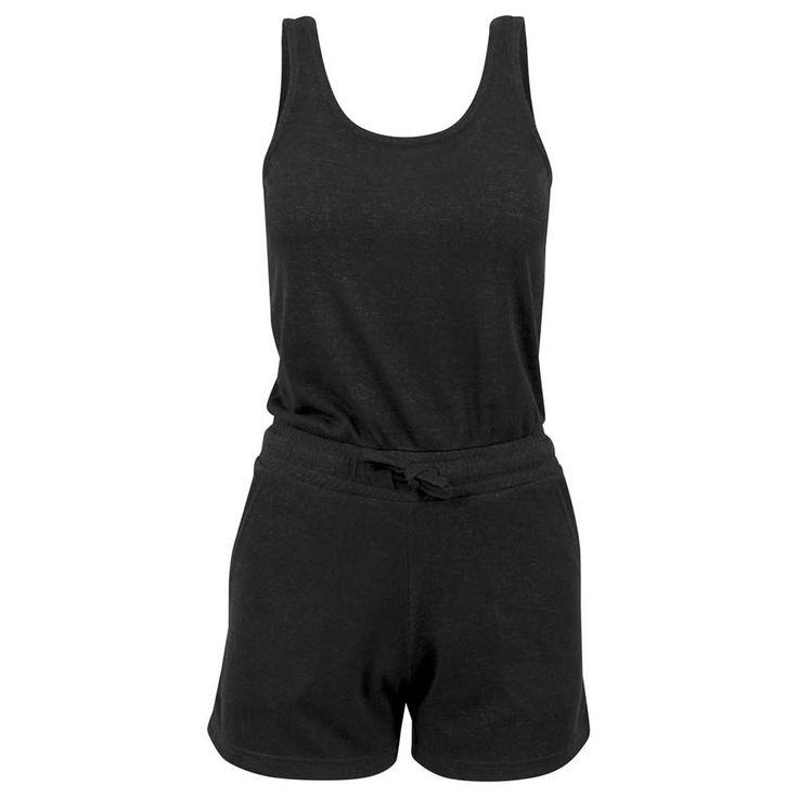 Urban Classics Hot Melange korte dames jumpsuit zwart | Attitude Holla