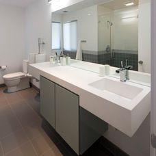 modern bathroom by Kriste Michelini Interiors