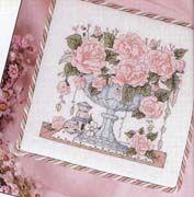 Schema punto croce Vaso Di Rose 01