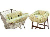 Itzy Ritzy Sitzy Shopping Cart & High Chair Cover – Avocado Damask $74.95 www.pennyfarthingkids.com.au #pennyfarthingkids  #babies #itzyritzy