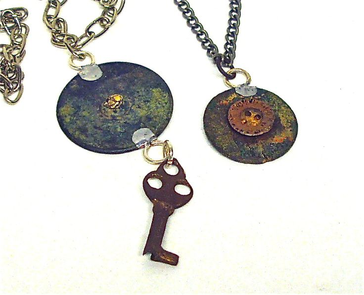 Upcycled button pendants