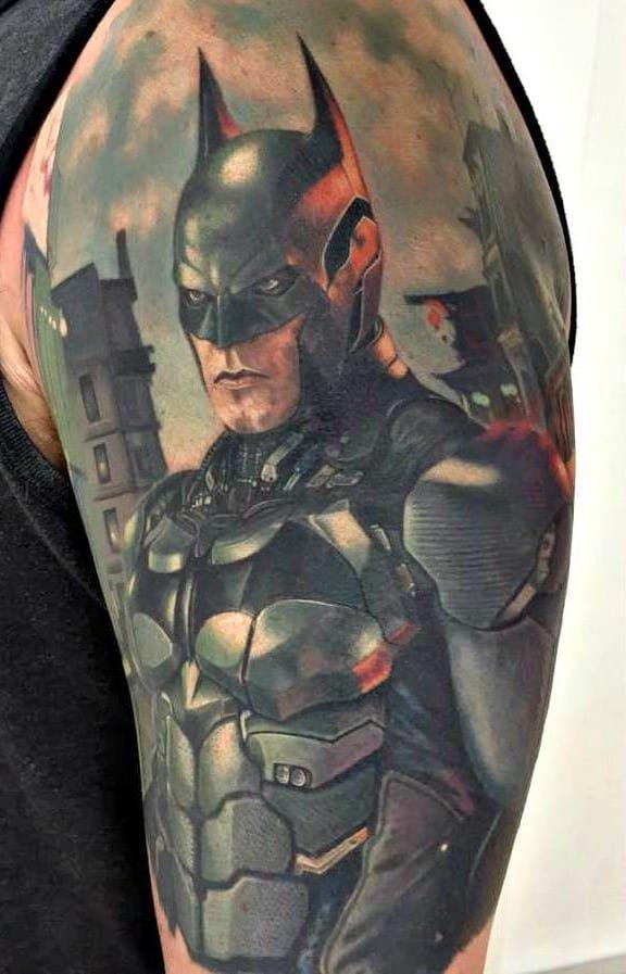Best 20 batman tattoo sleeve ideas on pinterest for Bat sleeve tattoo