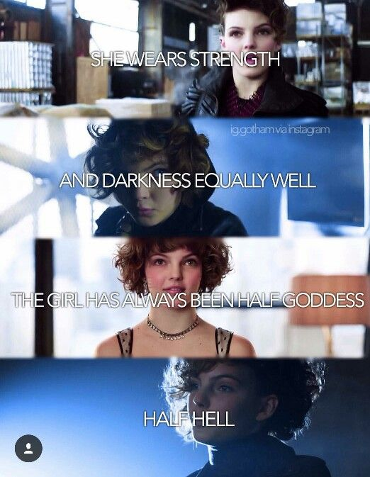 """Selina Kyle. """"She wears strength and darkness equally well. The girl has always been half goddess...half hell."""" (I love that!)"""