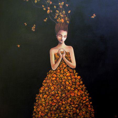 Awakening (Metamorphosis Of The Leaf Butterfly) #acrylic #paint #art