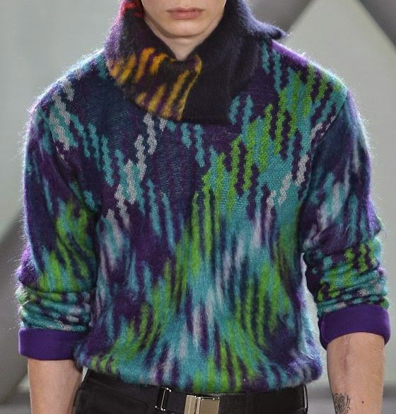 patternprints journal: PRINTS, PATTERNS AND TEXTILE SURFACES FROM PARIS CATWALKS (MENSWEAR F/W 2015/16) /  Issey Miyake