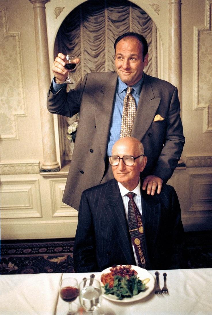 James Gandolfini and Dominic Chianese in The Sopranos