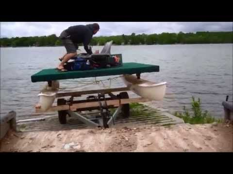 How to Build an Electric Pontoon Boat Using an Old Hobie Cat DIY - http://www.nopasc.org/how-to-build-an-electric-pontoon-boat-using-an-old-hobie-cat-diy/