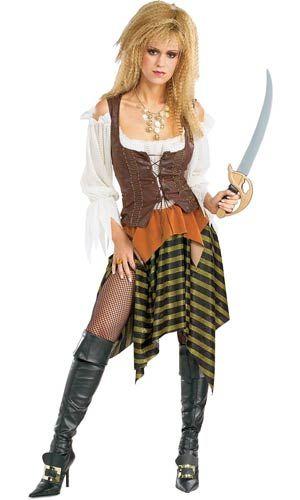 Adultos traje de la moza del pirata