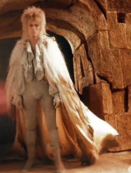 Jareth + Outfits  Probably the only movie I've seen where the lead guy changes his outfits more than the lead girl