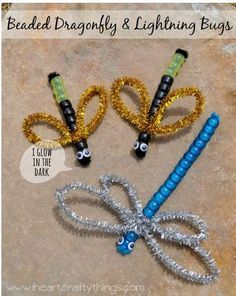 Interdisciplinary Therapy Activity of the Week: Beaded Dragonfly & Lightning Bug Craft  - pinned by @PediaStaff – Please Visit ht.ly/63sNtfor all our pediatric therapy pins