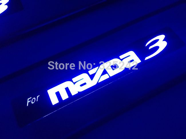 Find More Interior Mouldings Information about Excellent 4 pcs/set stainless steel threshold door sills / scuff plate For Mazda 3 First generation 2005 2009 LED light sticker,High Quality Interior Mouldings from Hongkong exl Industrial Co., Ltd.(guangzhou) on Aliexpress.com