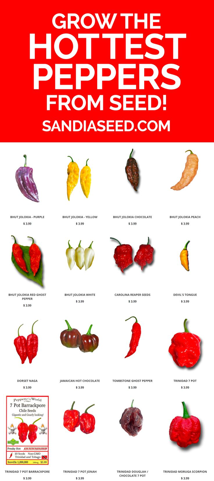 Grow the HOTTEST peppers from seed: https://www.sandiaseed.com/collections/hottest-pepper-seeds