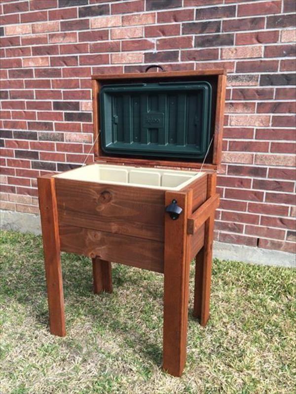 DIY Reclaimed #Wooden #Pallet Cooler Design | DIY Recycled