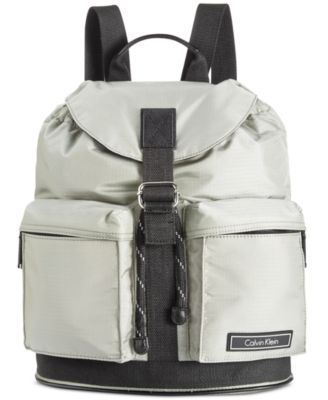 CALVIN KLEIN Calvin Klein Ballistic Nylon Backpack. #calvinklein #bags #leather #lining #nylon #backpacks #