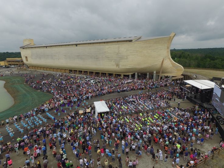 The Ark Encounter, the life-sized Noah's Ark theme-park attraction, held its official ribbon cutting ceremony on Tuesday in Grant County, Ky. ahead of its grand opening on Thursday, July 7th, gathering a crowd of 7,000 to witness the historic event.