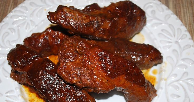Look at these beauties. These ribs were finger-lickin' good. They were so tender, they hardly made it out of the Crock Pot without falling...