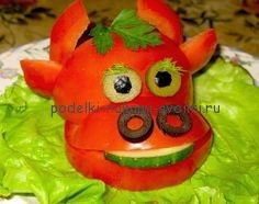Осенние поделки из овощей и фруктов. Детские поделки в садик (1)