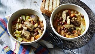 Sausage and bean casserole