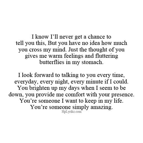 If only I could share my feelings with you..