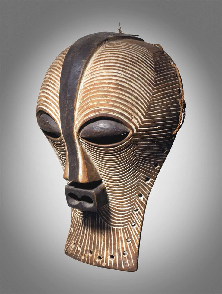 masque africain poterie