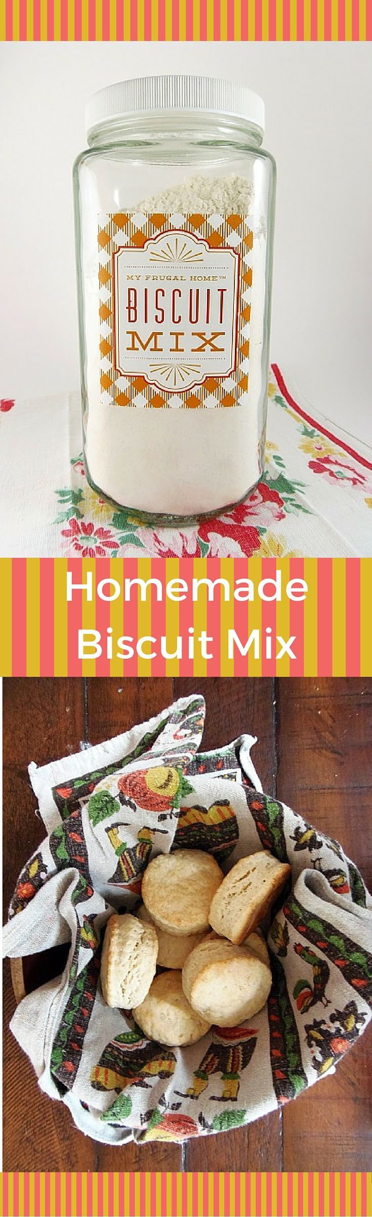 Homemade Biscuit Mix - with free printable label