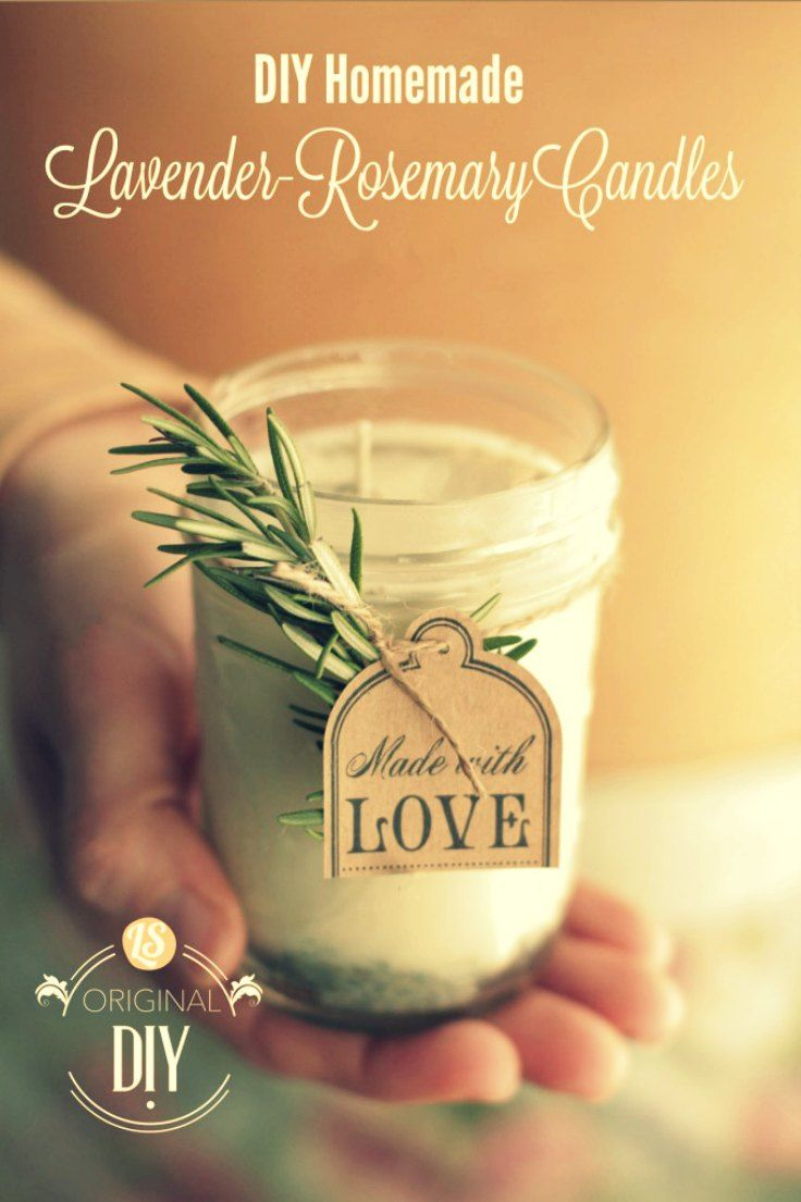- DIY Homemade Lavander Rosemary candles -  The most wonderful part about making homemade candles, is that you can use inexpensive mason jars, drinking glasses, clean baby food jars, tea cups, coffee cups, or little metal containers. There's no limit to the scents and type of container you can use (okay, no plastic…so maybe there is a limit).  #candles #velas #DIY #rosemary #romero #lavander #lavanda  via: @livesimplymom