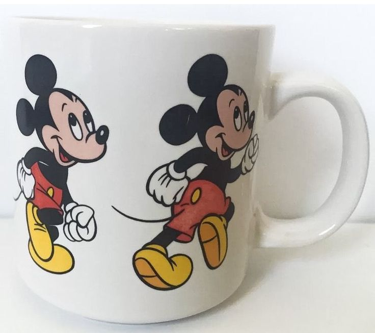 Vintage Mickey Mouse Cartoon Images Disney Coffee Mug Cup #Disney