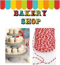 bakery shop, packaging, cupcake, stands, cloche,boxes, bags, tags, twine