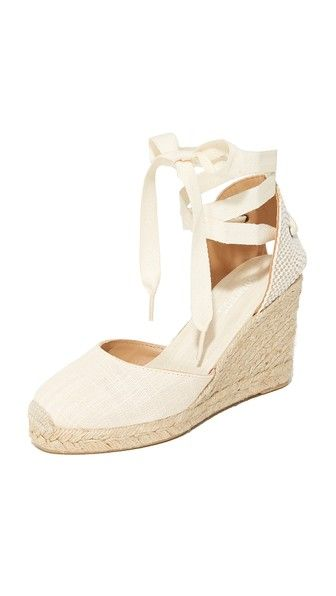 Soludos Tall Wedge Espadrilles. Castaner has had my espadrille heart all Spring and Summer long, but these are gorgeous too. Love Soludos.