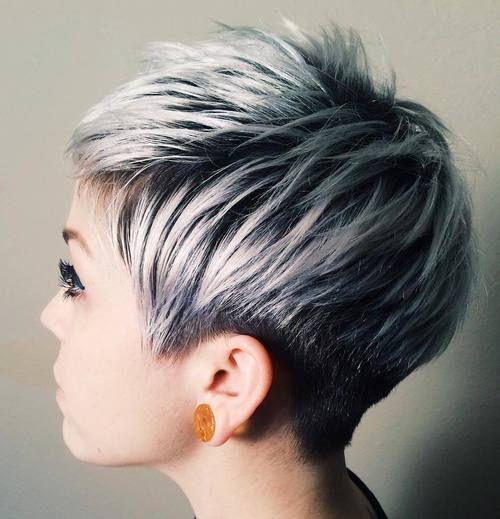 short+black+pixie+with+ash+blonde+balayage