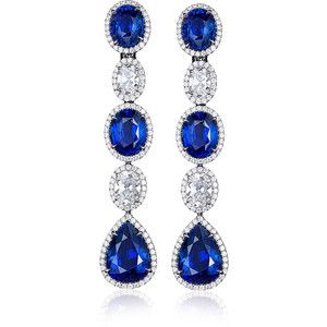 Bayco     Sapphire and Diamond Earrings