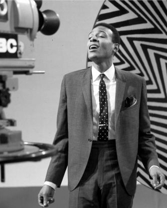 Marvin Gaye (1939-1984) performing on tv show 1964. Photo David Redfern.